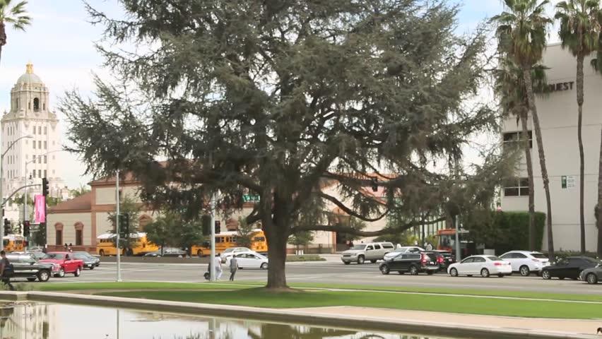 Beverly Hills City Street Traffic 02   Shutterstock HD Video #18378340