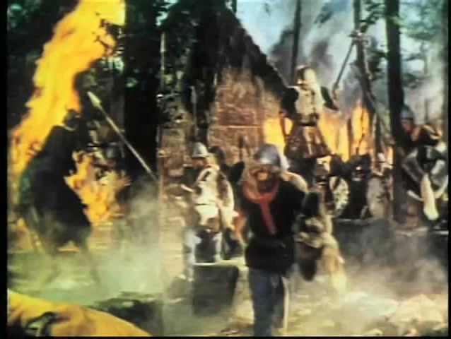 Vikings invading village