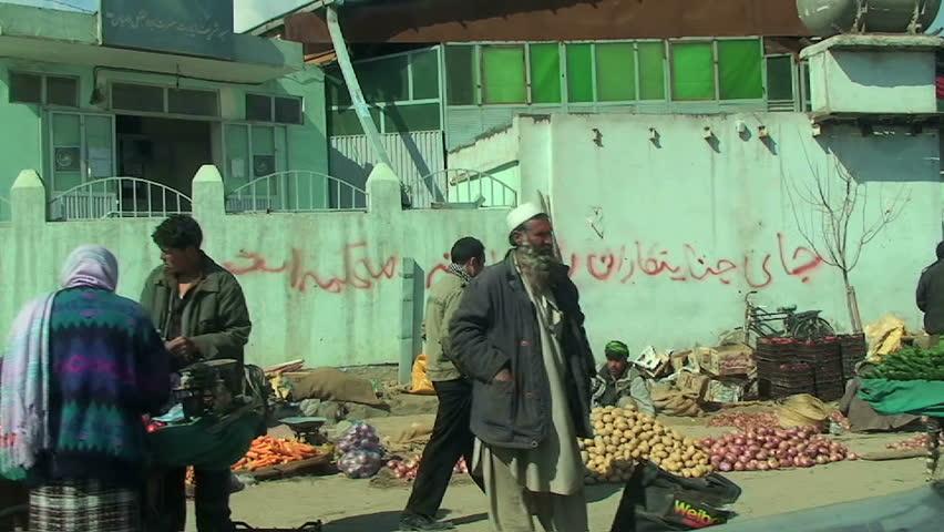 KABUL - CIRCA 2011: POV ride through the streets circa 2011 in Kabul.  - HD stock footage clip