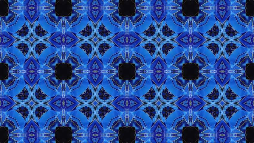 Blue - Kaleidoscope - Square
