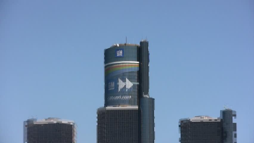 General Motors corporate office in Detroit - HD stock footage clip