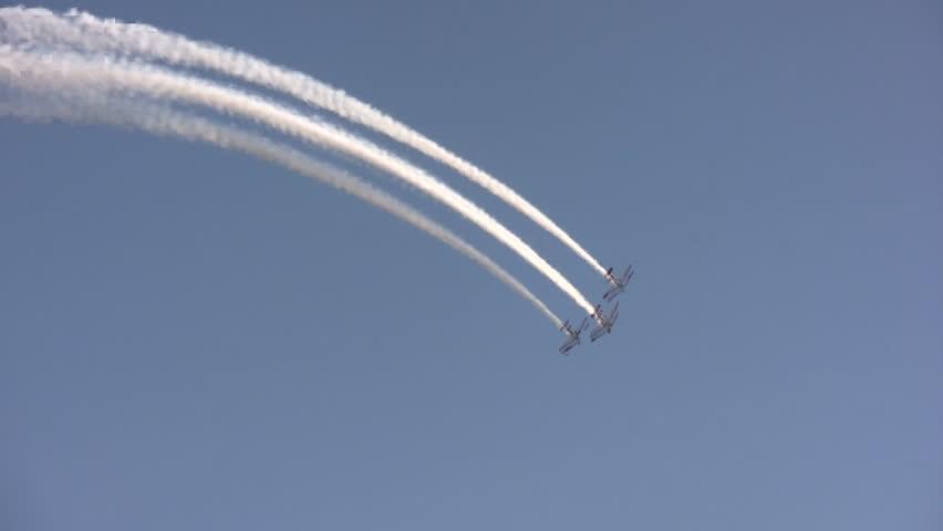 Team performing aerobatics