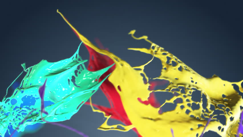 Colored paint splashes seamless LOOP