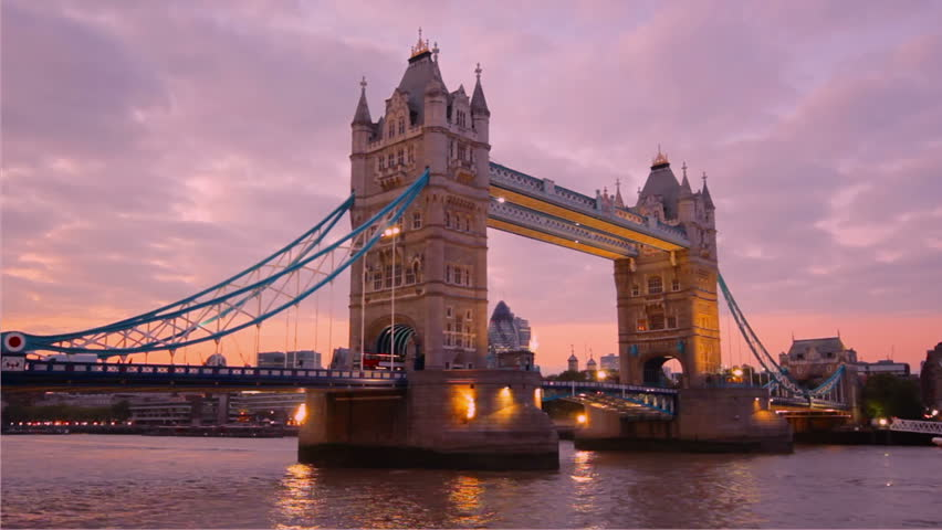 Sunset over Tower Bridge, London, UK | Shutterstock HD Video #1891762