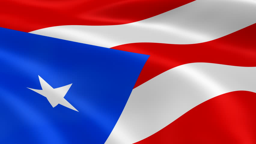 Puerto Rican flag in the wind. Part of a series. - HD stock footage clip