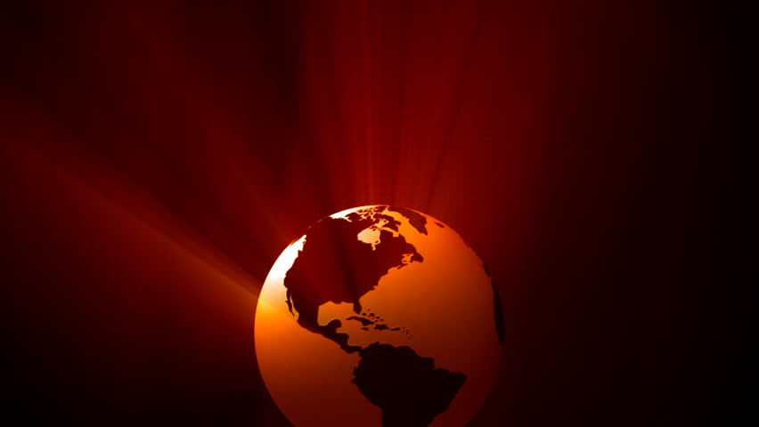 Orbiting globe with shiny lights. Broadcast ready digital globe animation. | Shutterstock HD Video #19027348