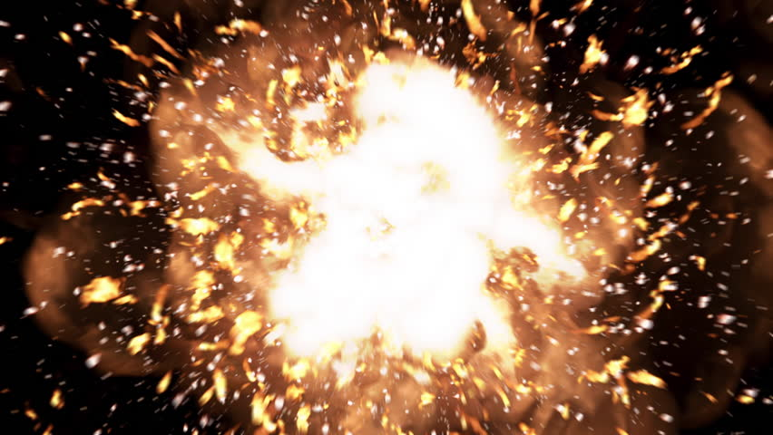 Close Up 4K realistic explosions and blasts. Luma matte is available for alpha channel.