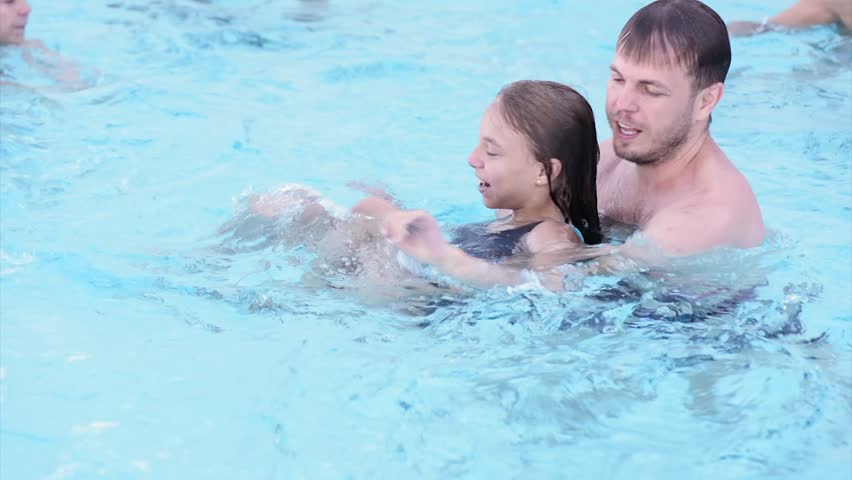 Father teen daughter swimming loved it!