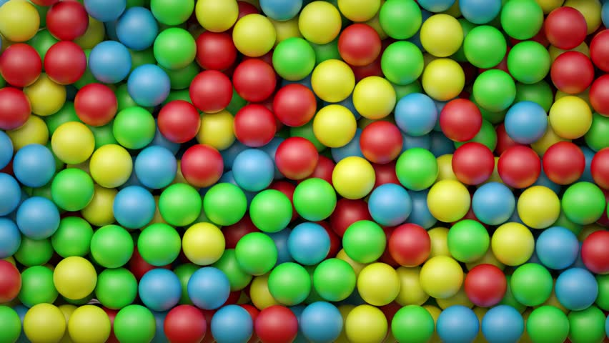 3d render, falling colorful balls, kids toys, plastic balls, playground, abstract background   Shutterstock HD Video #19193083