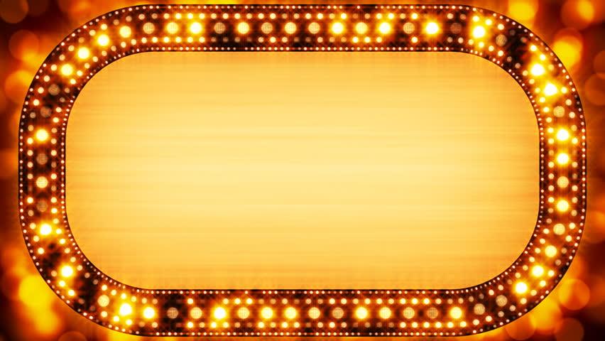 golden casino neon banner loopable