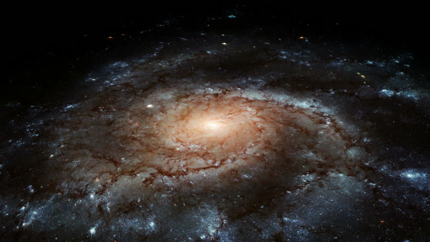 Spiral Galaxy - HD stock footage clip