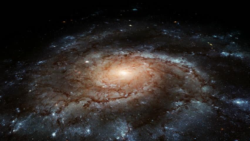 Spiral Galaxy - HD stock footage clip
