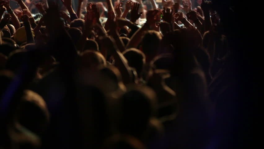 Footage of a crowd partying at a rock concert | Shutterstock HD Video #1935529