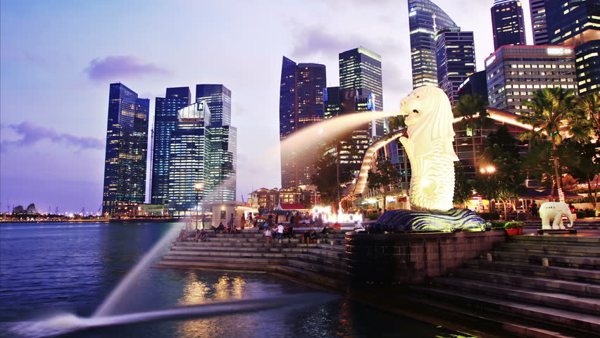 Singapore day to night. time lapse. High quality Footage - Original Size 4k (4096x2304). #1944628