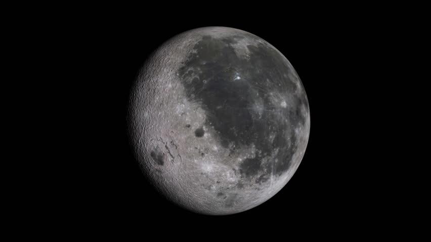 Moon (seamless)  - HD stock footage clip