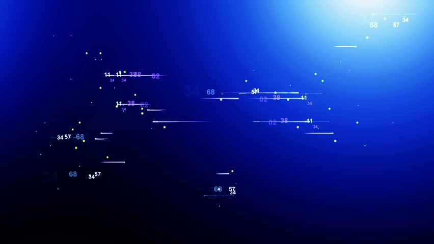 Digital data bank ( Series 2 - Version from 1 to 10 ) + BLUE, GREEN, RED, ORANGE Color Series ) - HD stock footage clip