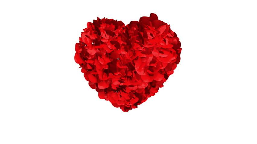 Heart of Rose Petals exploding   Shutterstock HD Video #1957084