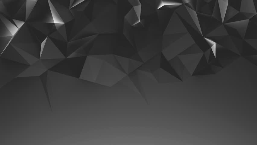 Abstract black 3d rendered geometric background with spikes. Monochrome background consisting of triangles. Abstract 3d rendering of metal surface. Loop video. PLace for text | Shutterstock HD Video #19615768