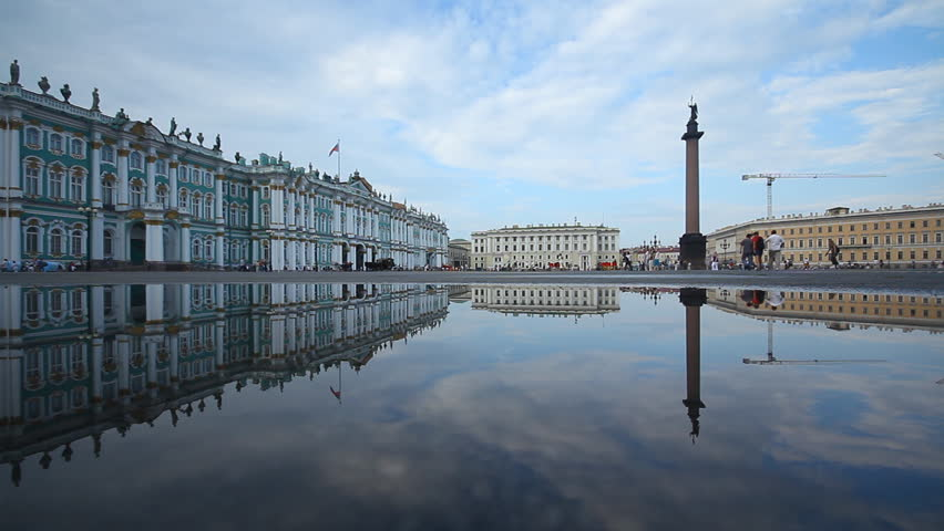 Russia, St. Petersburg, Palace Square, 07/05/2011 - HD stock footage clip
