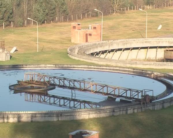 Pool Full Of Dirty Water Clean Device Precipitation Sludge