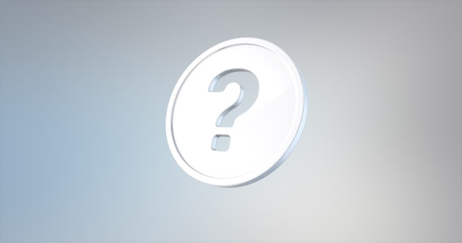 Animated Question Badge White 3d Icon Loop Modules for edit with alpha matte | Shutterstock HD Video #19796020