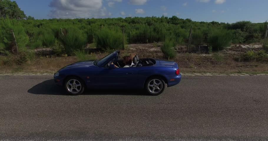 On the road feeling free in cabriolet | Shutterstock HD Video #19849039