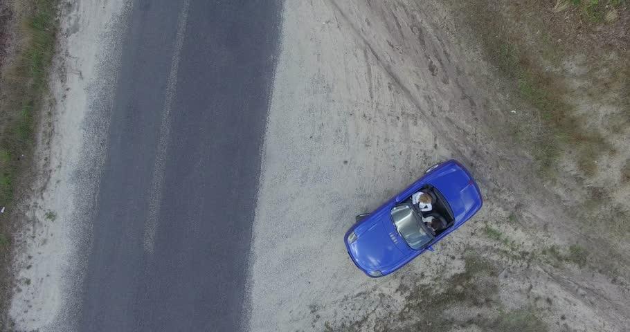 Girl driving a convertible car | Shutterstock HD Video #19849075