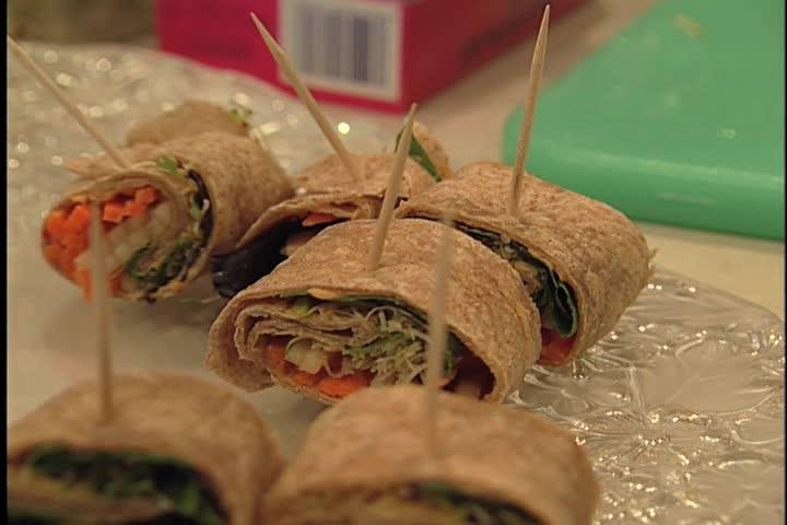 Veggie wrap - SD stock footage clip