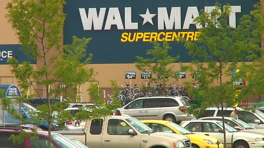 View of Walmart from the outside:Time lapse - HD stock footage clip