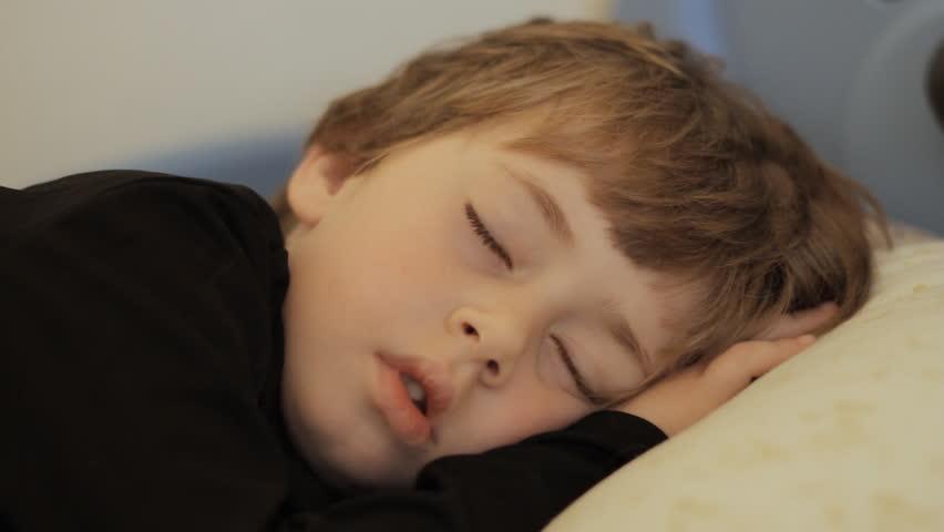 Sleeping sweet boy - HD stock video clip
