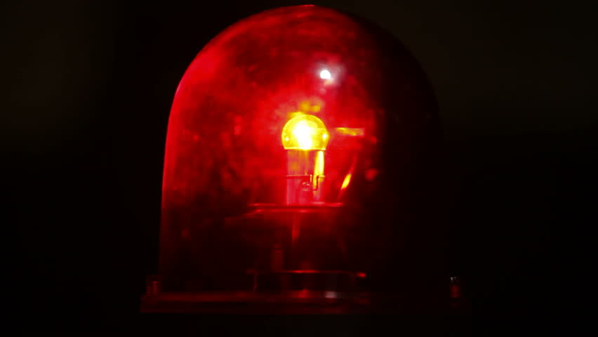 Old Fashioned Police Fire Emergency Light Stock Footage