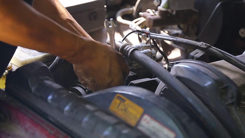 Repairing an engine | Shutterstock HD Video #20084965