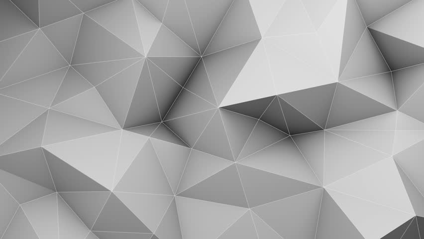 White low poly 3D surface chaotic waving. Abstract geometric background. Semless loop 3D render animation. 4k UHD (3840x2160) | Shutterstock HD Video #20107672