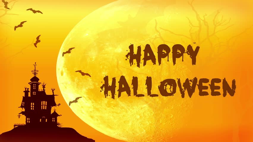 Happy Halloween animated card  | Shutterstock HD Video #20181229