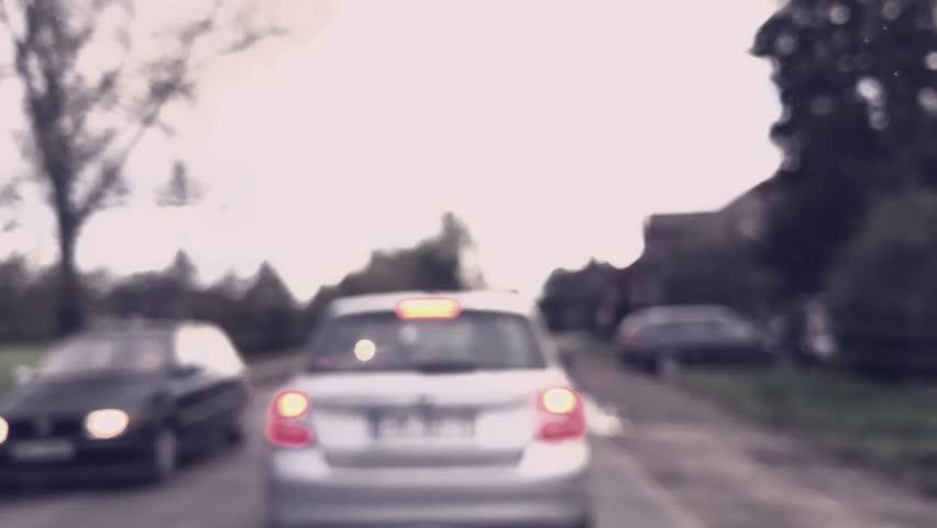 Driving in Traffic jam - timelapse footage, defocused, bokeh. | Shutterstock HD Video #20185405