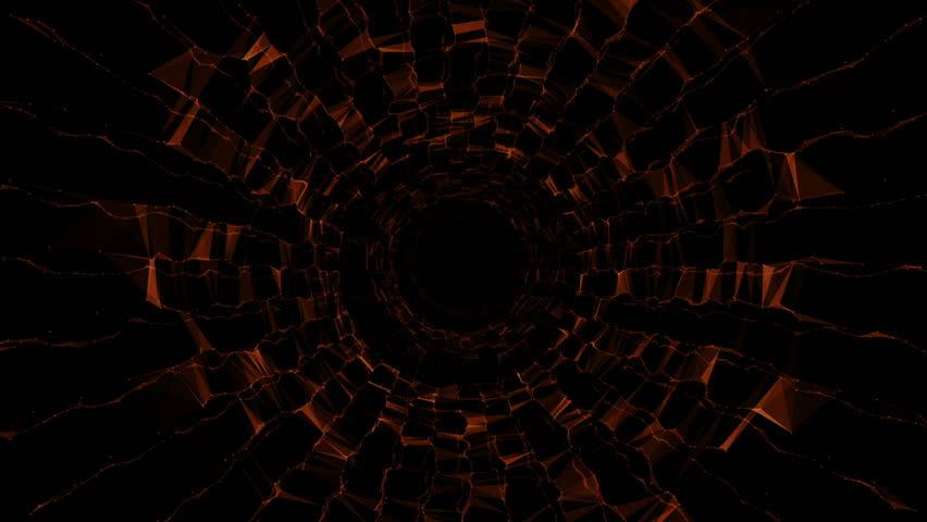Abstract triangular crystalline tunnel animation. Seamless loop | Shutterstock HD Video #20257126