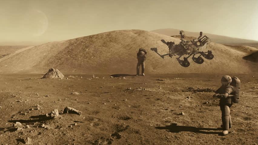 footage of mars rover landing - photo #20