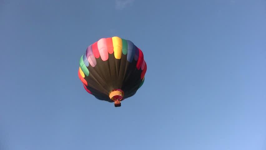 hot air balloon soaring - HD stock video clip