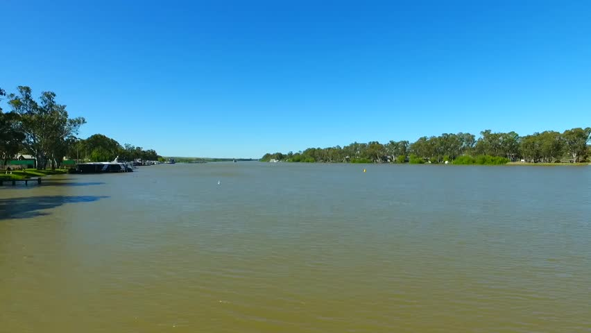 Aerial footage of the river murray in south Australia, life on the river  | Shutterstock HD Video #20448007