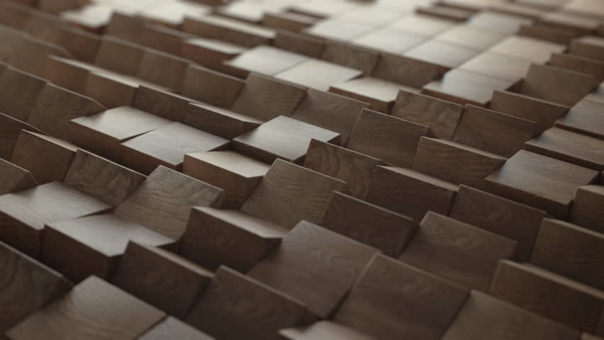 Abstract Wood Cubes Turn, 3d Animation 4k | Shutterstock HD Video #20448205