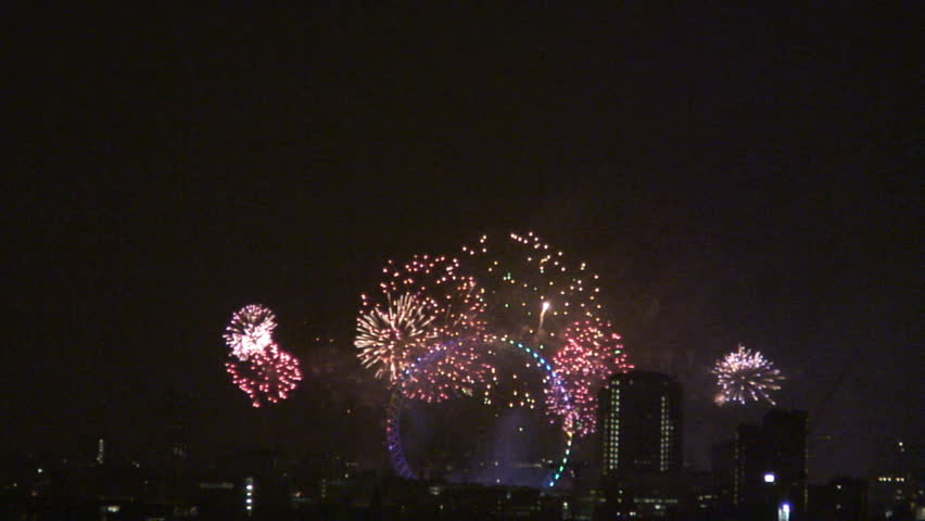 London Eye fireworks