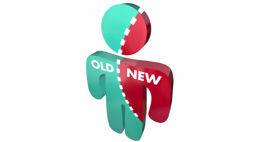 New Vs Old Person Update Modern Change 3d Animation | Shutterstock HD Video #20600674