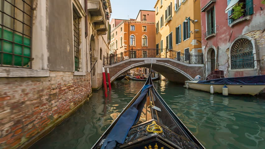 VENICE, ITALY - SEPTEMBER 09, 2016: In gondola on the canals of Venice, Italy | Shutterstock HD Video #20662630