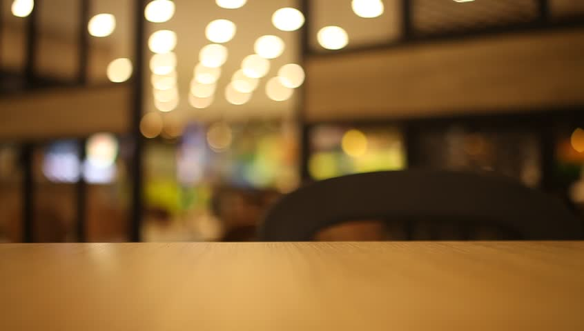 Table and chair at food court blurred background | Shutterstock HD Video #20716747