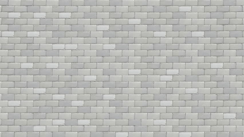 breaking white brick wall - HD stock footage clip