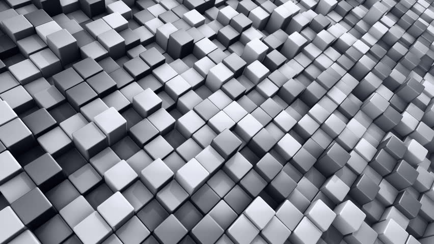 Abstract background with animation of wave mosaic of squares. Technological backdrop. Animation of seamless loop. | Shutterstock HD Video #20881312