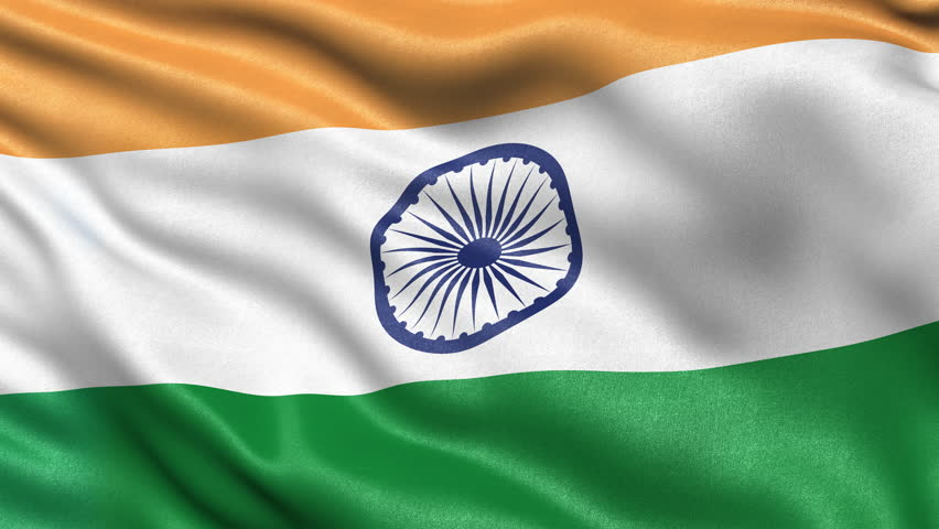 Indian Flag Animated: Indian Flag HD. Looped. Stock Footage Video 1821566