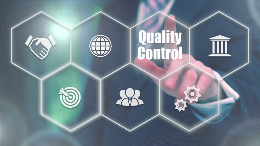 Businessman pressing a Business Quality Control concept | Shutterstock HD Video #20992732