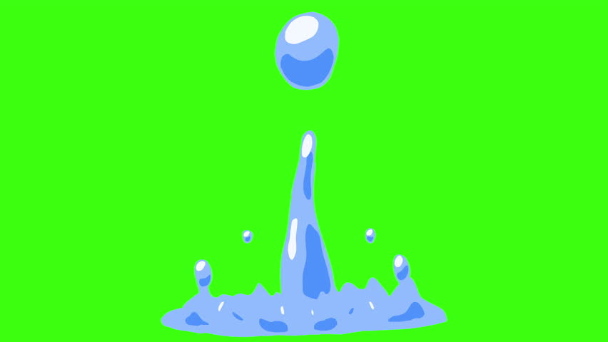 2d Cartoon FX Pack 4K 32 Color Water Elements. Pre-rendered with green screen with 4K resolution.  | Shutterstock HD Video #21113188