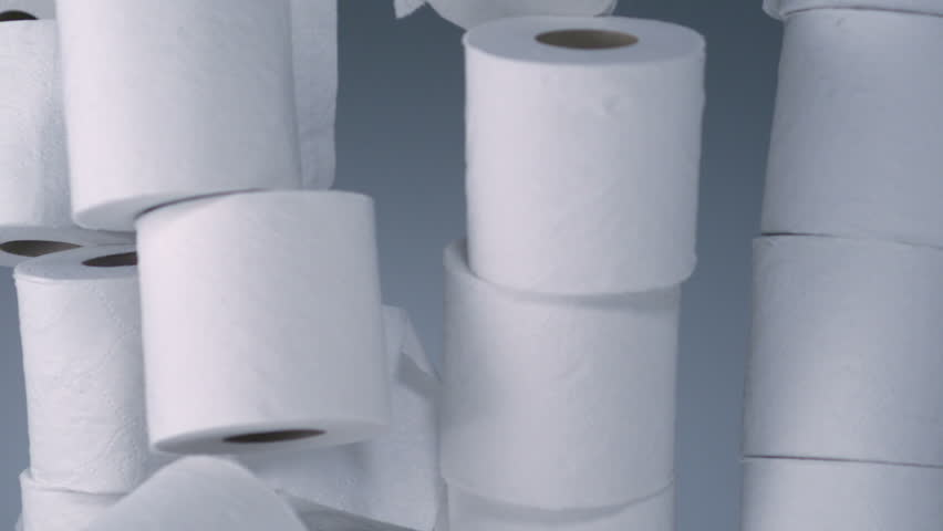 Tower toilet paper rolls collapsing